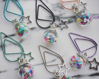 Unicorn Sprinkles, Silver, Charm Paperclips, Planner Charm