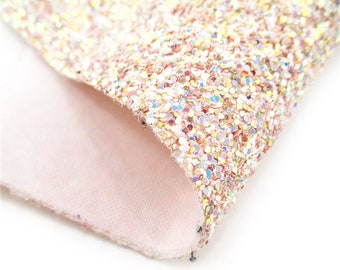 Shell Chunky Glitter faux leather sheet