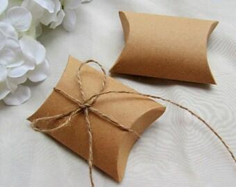 Boite Cadeau Carton Kraft Pliable Emballage Bijoux 9x7x2,4cm