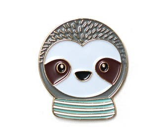Simon Sloth - Enamel Pin, lapel pin, sloth