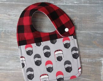 NEW item: Infant Drool Bib- Lumberjacks & Buffalo Plaid