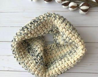 Chunky Crochet Cowl, Moonlight