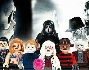Minifigures Terror Lot 8 Halloween compatible custom blocks horror