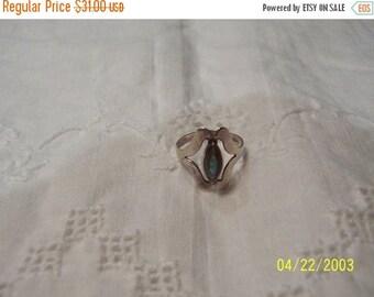 20% OFF VALENTINES SALE Vintage Avalone Ring. Sterlling Silver.