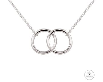 """Silver-plated chain """"double ring"""" soft"""