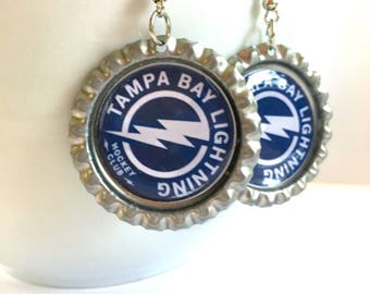 Tampa Bay LIGHTNING Handcrafted Hockey Earrings