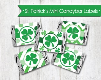 St Patrick's Day Mini Candy Bar Wrappers - Instant Download