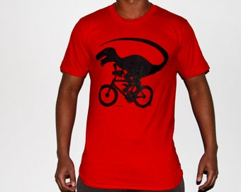Dinocycle Black on Red American Apparel