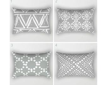 Gray Lumbar Pillow . Grey Toddler Pillow . Geometric Pillow . Modern Cushion . Rectangle Throw Pillow . Grey Pillow . Travel Pillow 14 x 20