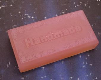 Black Amber & Lavender Glycerin Soap-Handmade-5 Oz Handmade Rectangle Bar-Biodegradable Shrink Wrap