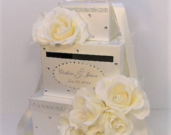 Wedding  Card Box Ivory Gift Card Box Money Box Holder--Special Custom order.Customize your color