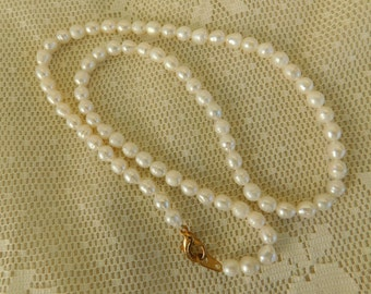 Pearl Necklace, Beaded Necklace, Freshwater Pearls