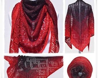 Knitting Pattern Lace Shawl X-Mas