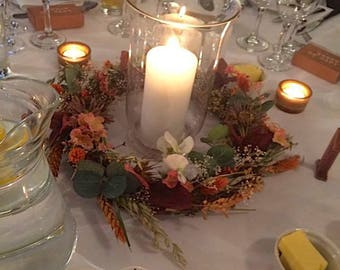 Beautiful Table Wreath, table decorations, wedding table centres, wreaths, garlands, centrepieces