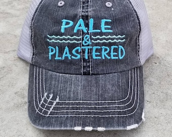 Pale and Plastered Embroidered Cap