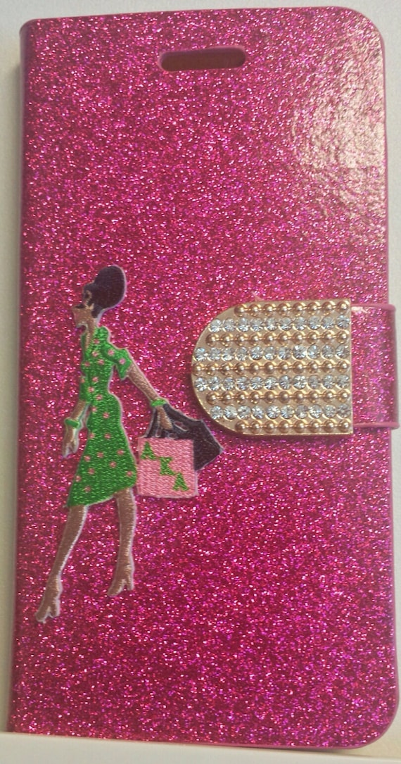 Alpha Kappa Alpha Hot Pink iPhone 6 Plus Bling Rhinestone Case