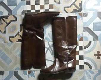 Vintage Boots ' 70 – ' 80 brown leather EU 37