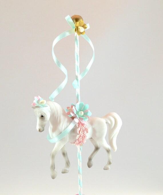 Plastic Carousel Horse Cake Topper