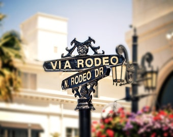 Rodeo Drive, Beverly Hills Art, Los Angeles Print, Home Decor