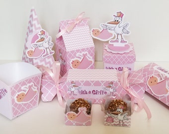 Baby Girl Shower 78 Piece Party Kit