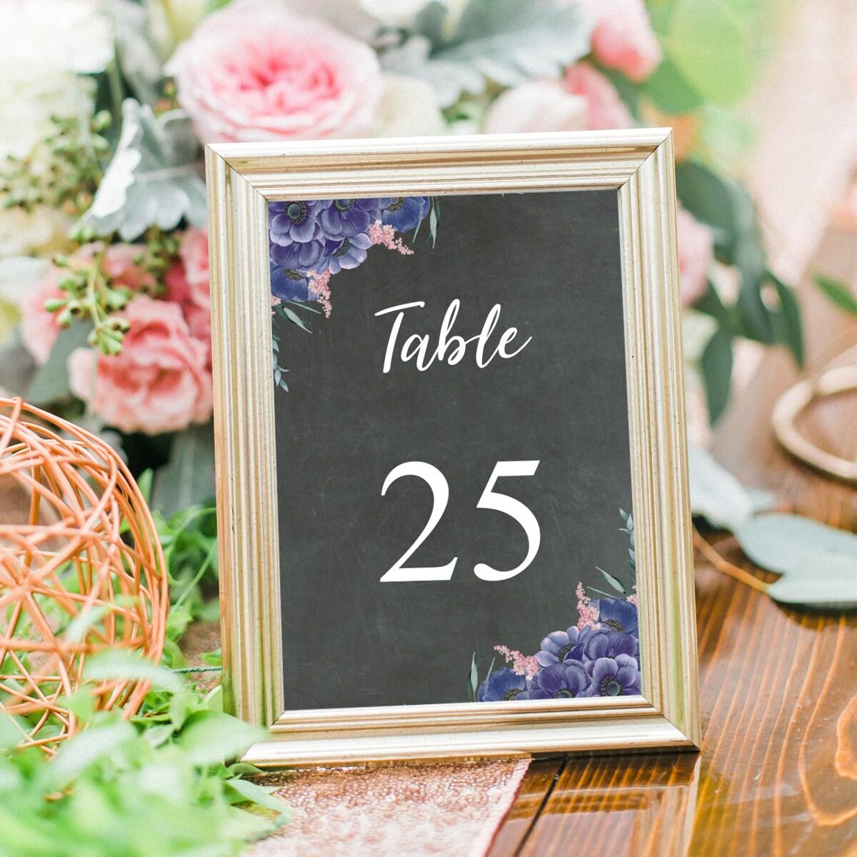Tischnummern Hochzeit, Tischnummer Karten, Druckbare Hochzeitsdeko ...