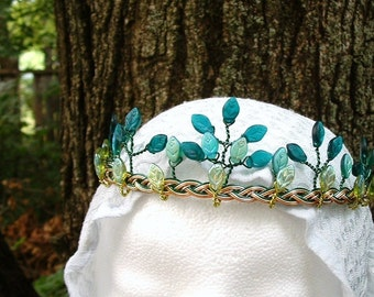 Irish Celtic Wedding Tiara, Oberon and Titania Faery Crown