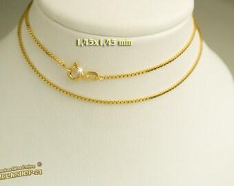 Fine Venetian for women, teens, yellow gold, 8 carat, 45 cm