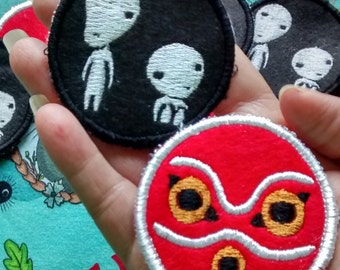 Princess Mononoke Mask and Kodama  Patches