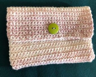 Pink/White Tye Dyed clutch