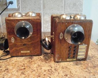Set of 2 Vintage Western Electric Inter-Phone 1914