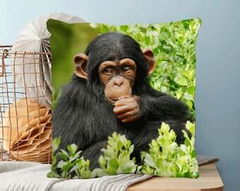 """Baby Chimp 18"""" Design Cushion"""