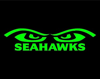 Seahawks Both EYE's Vinyl Window Decal Pick your size and color