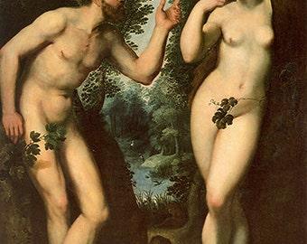 Peter Paul Rubens: Adam and Eve in Paradise . Fine Art Print/Poster. (002123)