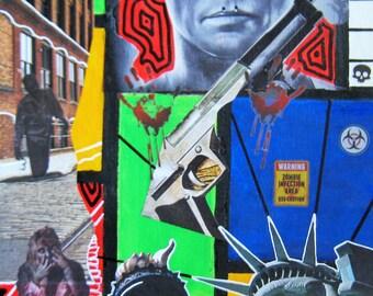 CitiSurvival 14x18 Urban Mixed Media Collage