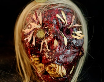 Flower Child - Horror sculpture, horror collectible, zombie art, gothic