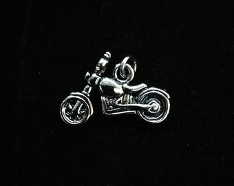 Silver Motorcycle Charm