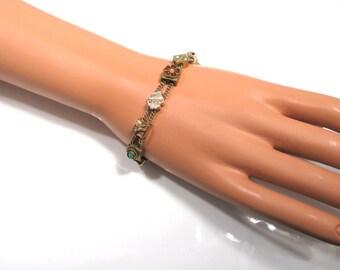 Antique/Vintage Chain Slide Bracelet; Antique Bracelet; Vintage Slide; Slide Bracelet; Slides; Vintage Slide Bracelet; Slide Charm