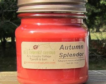 AUTUMN SPLENDOR CANDLE - Apple Candles, Oak Candles, Cinnamon Candles, Spice Candles, Fall Candles, Autumn Candles, Orange Candles, Scented