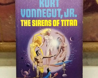 Kurt Vonnegut, The Sirens of Titan, Rare 1st Edition Dell Softcover Book (1966)