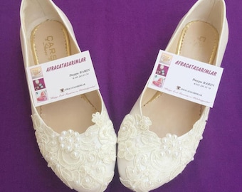 Weddings, Flat Wedding Shoes, Lace Shoes, Pearl Wedding Shoes, Bridal Flats, Lace Wedding Shoes, Ballet Shoes, Princess Ballet Shoe, Bridal