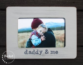 Dad Frame Personalized Picture Frame First Father's Day Gift New Dad Gift from Child Custom Photo Frame Distressed Rustic for Daddy