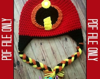 Incredibles Hat Crochet Pattern *** PDF FILE ONLY