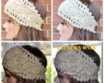 Pattern #1, PDF, Instant Download, Crochet headband pattern - Diagram Included!