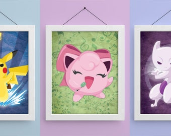 Pokemon 8x10 Prints