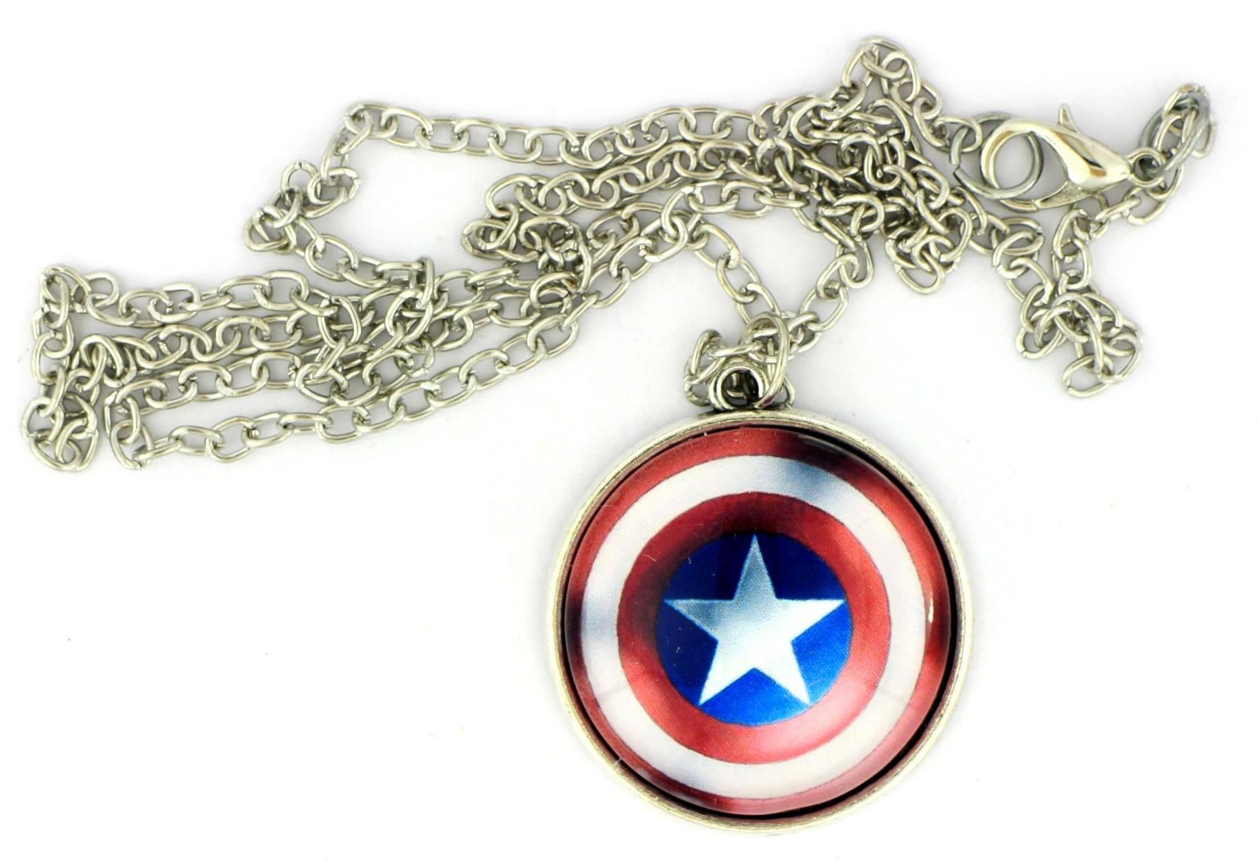 Capitán América collar o llavero escudo de Steve Rogers