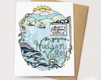 Hudson Valley Illustrated Card - Blank inside