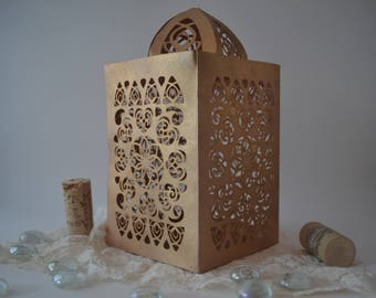 Detailed Moroccan Lamp Cutting File