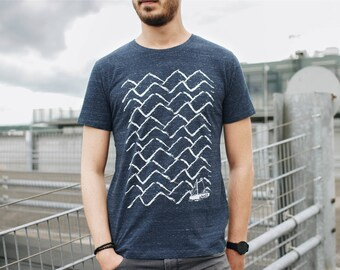 Ahoi 3.0 Men T-Shirt Organic & Fair Wear _dark blue melange EQUSwjGj