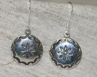 Flower Silver Earrings,Sterling Silver Earrings , Silver Earring, Handmade 925 Silver Earrings, Dangle Earrings,Silver Flower ,