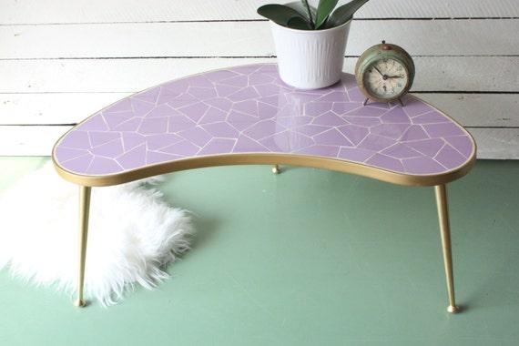 Gran mesa en forma de riñón flor otomano mesa de centro